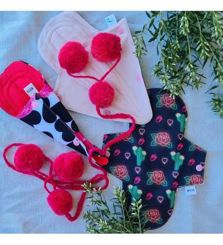 Toallitas menstruales de tela